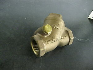 Lunkenheimer 1 Npt Bronze Check Valve Class 300 Fig 554y Swing Check New