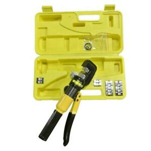 Yqk 70 Portable 10 Ton Hydraulic Pliers With 9 Dies Battery Cable Lug Terminal