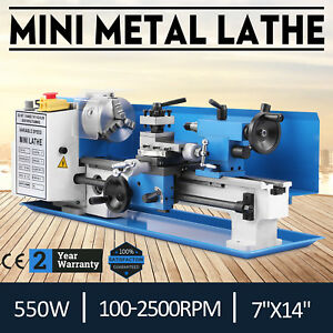 550w Precision Mini Metal Lathe Metalworking Metal Turning Diy Processing 7 x14