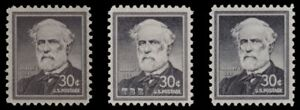 1049 1049a 1049b Robert E. Lee 30c Liberty Issue Variety Set of 3 MNH Buy Now $5.50