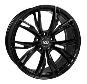 18x8 Enkei Onx 5x108 40 Gloss Black Rims Fits Focus Svt Escort