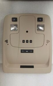 Malibu Overhead Console Homelink Garage Door Opener Lights Microphone Tan