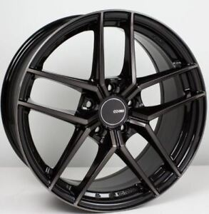 19x9 5 Enkei Ty5 5x114 3 35 Pearl Black Rims Fits Honda Accord 2008 2012