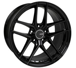 19x8 5 Enkei Ty5 5x114 3 35 Gloss Black Rims Fits Honda Accord 2008 2012