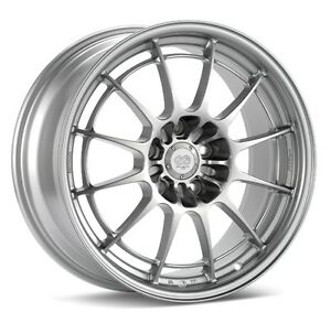 18x8 5 Enkei Nt03 m 5x114 3 38 Silver Rims Fits Veloster Mazda Speed 3