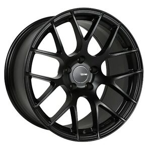 18x8 Enkei Raijin 5x114 3 45 Black Rims Fits Veloster Mazda Speed 3