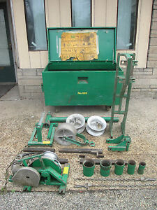 Complete Greenlee 640 Tugger Wire Puller With Accessories