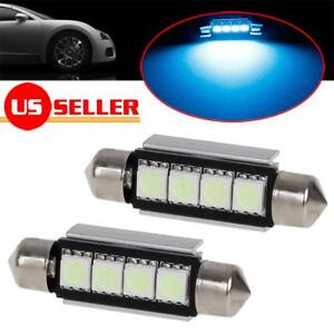 2x Ice Blue 561 562 Led Bulbs For Car Interior Dome Map Lights Lamps Accessories