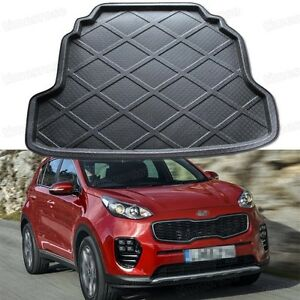 Black Car Rear Trunk Mat Cargo Boot Liner Tray For Kia Sportage 2016 2017 Up New
