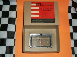 1958 Mercury Clock New With Box