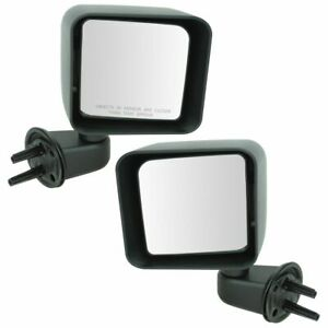 Manual Side View Mirrors Left Right Pair Set New For 07 10 Wrangler