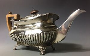 18thc Georgian London Sterling Silver Teapot Chinese Style
