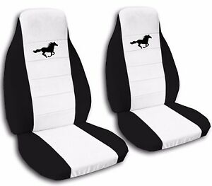 Front And Rear 2003 Ford Mustang Gt Seat Covers Black And White