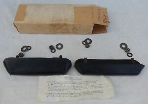 Vintage Pair Of New Old Stock Rubber Bumper Guards British Car