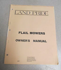 Land Pride Flail Mowers Owner s Owners Manual 1987