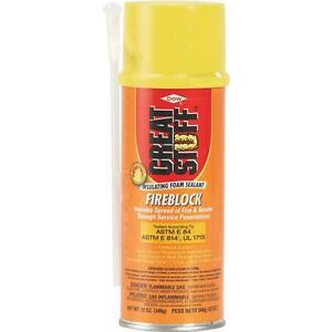 3 Pk Great Stuff 12 Oz Orange Color Smoke Fire Block Foam Sealant 306179