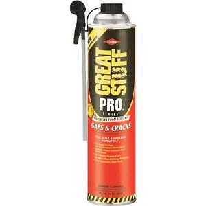 12 Pk Great Stuff Pro 24 Oz Orange Color Gap Crack Foam Sealant 341553