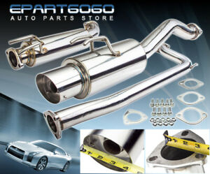 For 2006 2011 Honda Civic Si Coupe Exhaust Catback 4 Slant Tip Muffler