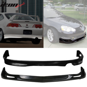 Fits 02 04 Acura Rsx Coupe Urethane Lip Front Rear Bumper Lip Spoiler Bodykit