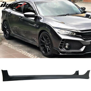 Special Deal Fits 16 18 Civic Sedan Hf p Style Side Skirts Pair Black Pp