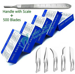 500 Surgical Sterile Scalpel Blades 10 11 12 15 15c Fits Handle 3
