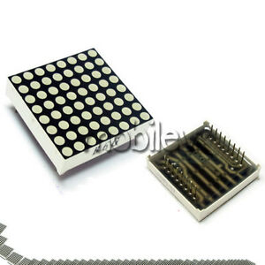 40 Led Dot Matrix Display 8x8 3mm Red Common Anode 16 P