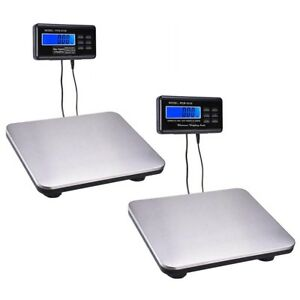 440lbs 660lbs Optional Lcd Ac Digital Floor Bench Scale Postal Platform Shipping