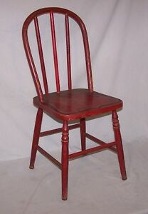 Stenciled Bentwood Child S Chair Red Made In Appleton Wisconsin