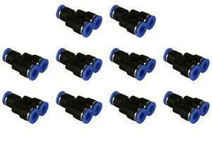 10 Piece Pneumatic Air Quick Push To Connect Fitting 1 4 Od y Split Tube 6mm