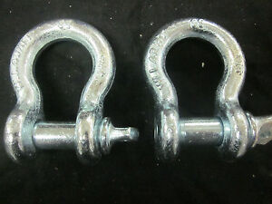 2 3 4 Bow Shackle Anchor Pin D Ring Chain Recovery Tow Marine Boat 4 3 4 Ton