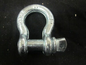 1 1 2 Bow Shackle Anchor Pin D Ring Chain Recovery Tow Marine Boat 2 Ton