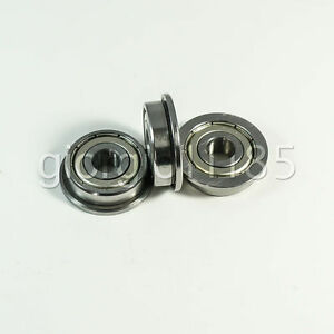 Us Stock 10 Pcs F696zz Double Shielded Flanged Ball Bearings 6mm X 15mm X 5mm