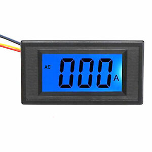 Us Stock Blue Lcd Digital Amp Current Panel Meter Ammeter Ac 0 5a