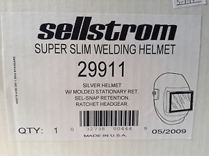 Sellstrom 29911 Super Slim Welding Silver Helmet Ratchet Headgear