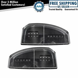 Towing Mirror Turn Signal Marker Clearance Lens Smoked Pair For Toyota Tundra