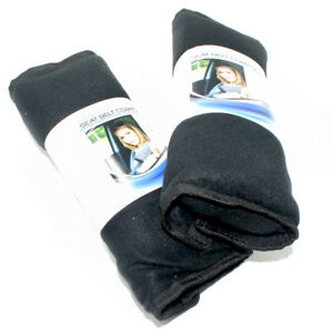 2 Super Plush Black Fleece Seat Belt Cover Shoulder Comfort Pads For Car Truck