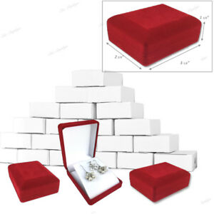 Lot Of 24 Pc Long Earring Boxes Showcase Pendant Boxes Red Jewelry Box Wholesale