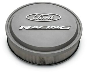 Ford Racing Logo 4v Holley Autolite Gray Slant Edge Air Cleaner Assembly 302 999