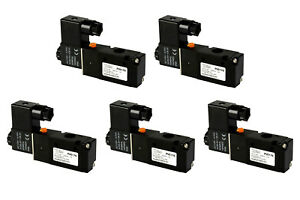 5x 110v Ac Solenoid Air Pneumatic Control Valve 3 Port 3 Way 2 Position 1 4 Npt