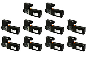 10x 110v Ac Solenoid Pneumatic Control Valve 3 Port 3 Way 2 Position 1 4 Npt