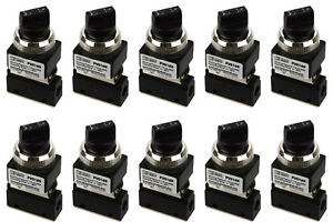10x Latching Rotary Knob Pneumatic Control Valve 2 Port 2 Way 2 Position 1 8 Npt