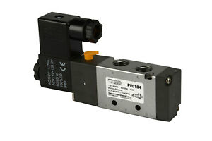 New 110v Ac Solenoid Pneumatic Control Valve 5 Port 4 Way 2 Position 1 4 Npt