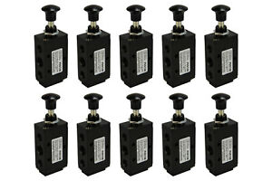 10x Hand Push Pull Pneumatic Air Control Valve 5 Port 4 Way 2 Position 1 4 Npt