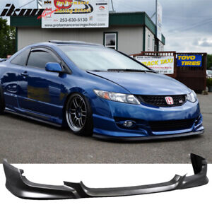 Fits 09 11 Honda Civic 2dr Coupe Hfp Hf p Style Front Bumper Lip Urethane Pu