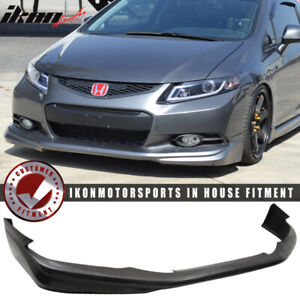 Fits 12 13 Honda Civic Coupe 2dr Usdm Md Style Front Bumper Lip Pu