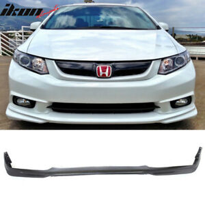 Fits 12 Honda Civic 4dr Sedan Usdm Md Style Front Bumper Lip Pu