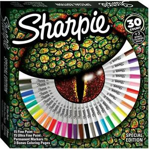 Sharpie Permanent Markers Pens Special Ed 30 Fine Ultra Adult Coloring Pages
