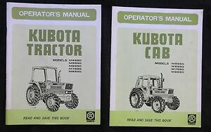Kubota M4950 M5950 M6950 M7950 M8950 Tractor Operators Manual Also Has the Cab
