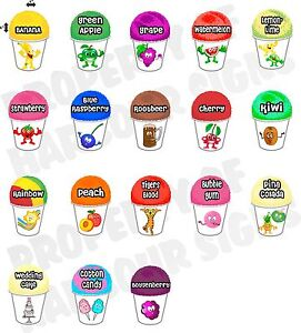 18 4 x6 each Shave Shaved Ice Snow Cone Decal Concession Food Truck Sticker