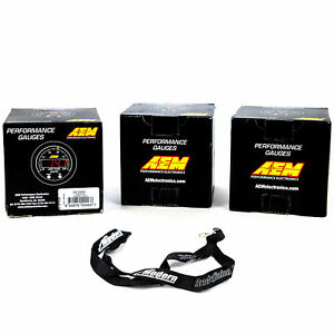 Aem 52mm X series Gauge Kit Wideband Air fuel Oil fuel Pressure Boost Black